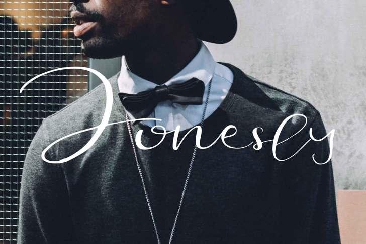 Jonesly Font poster