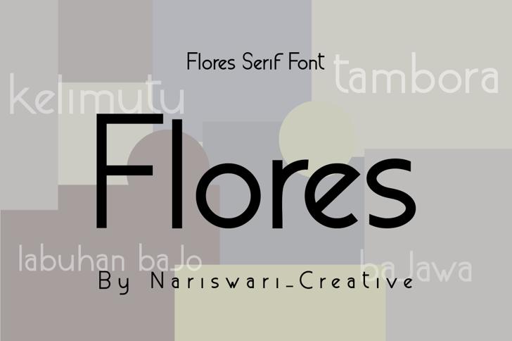 Flores Demo Font poster