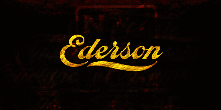Ederson PERSONAL USE ONLY Font poster
