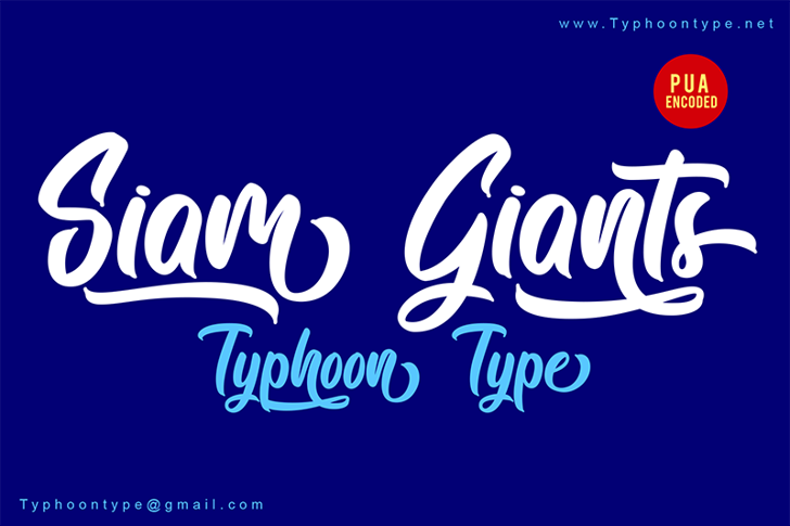 Siam Giants - Personal Use Font design typography
