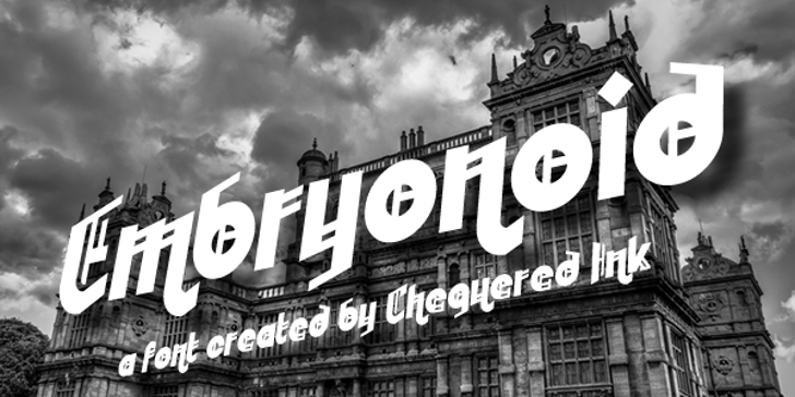 Embryonoid Font outdoor billboard
