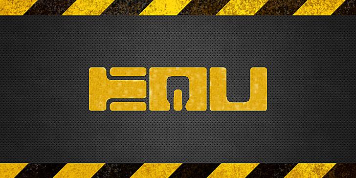 Equ Font screenshot yellow