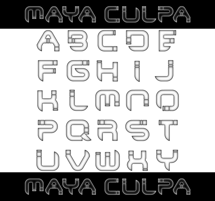 Maya Culpa Font screenshot design