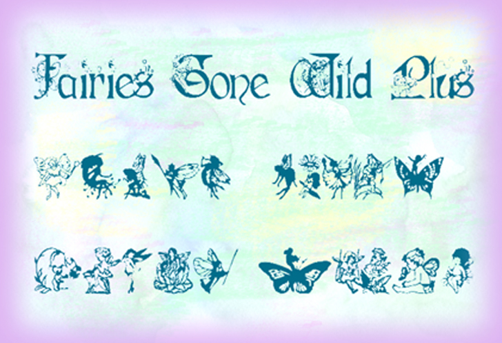 Fairies Gone Wild Plus Font handwriting text