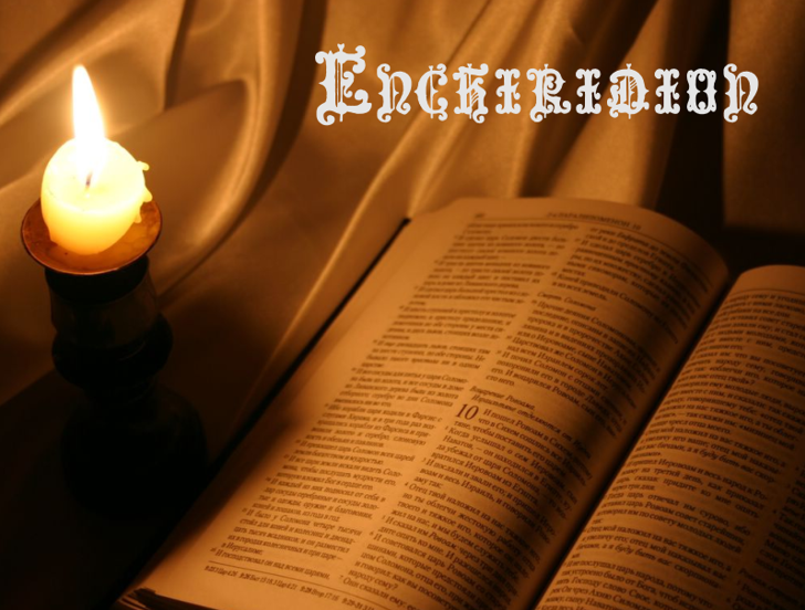 Enchiridion Font book candle