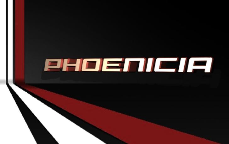 Phoenicia Font screenshot design