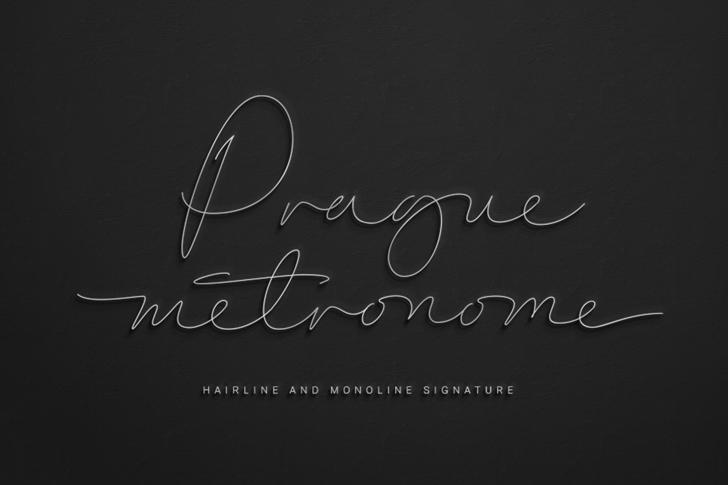 Prague Metronome Hairline Font poster