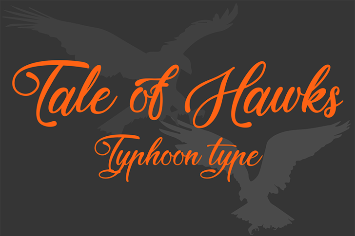 Tale of Hawks Font design graphic