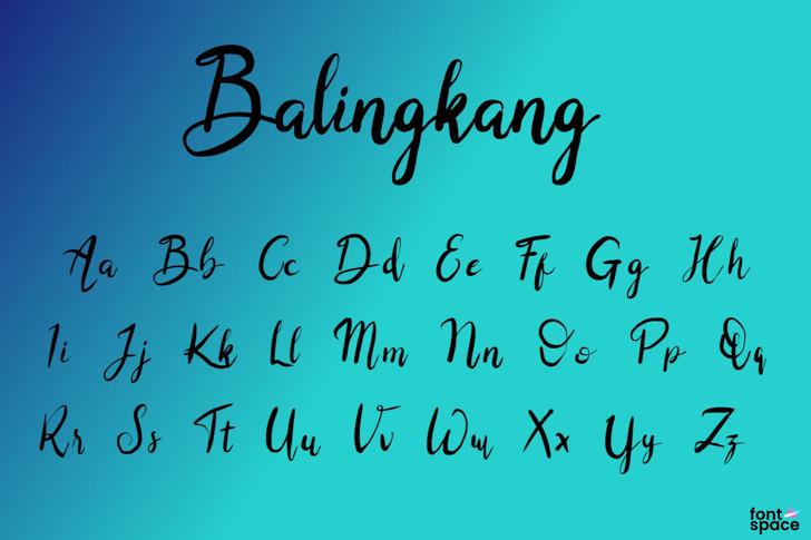 Balingkang Font poster