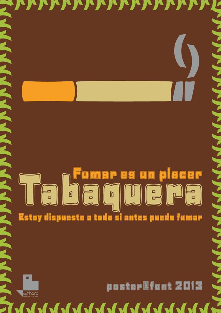 Tabaquera Font design screenshot