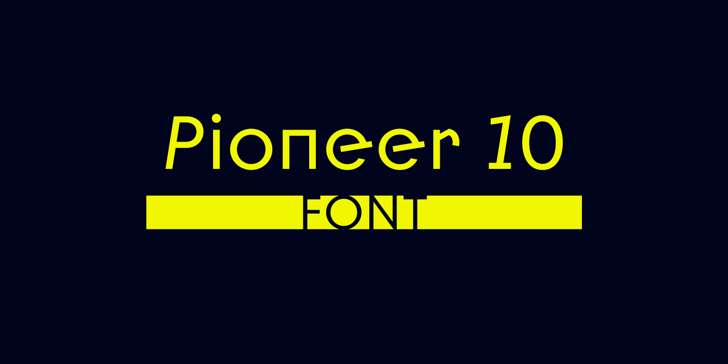 Pioneer 10 Font poster