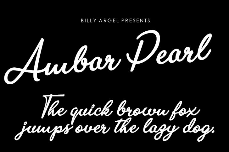 Ambar Pearl Personal Use Font text handwriting