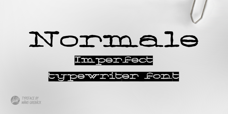 Normale Personal Use Font design font