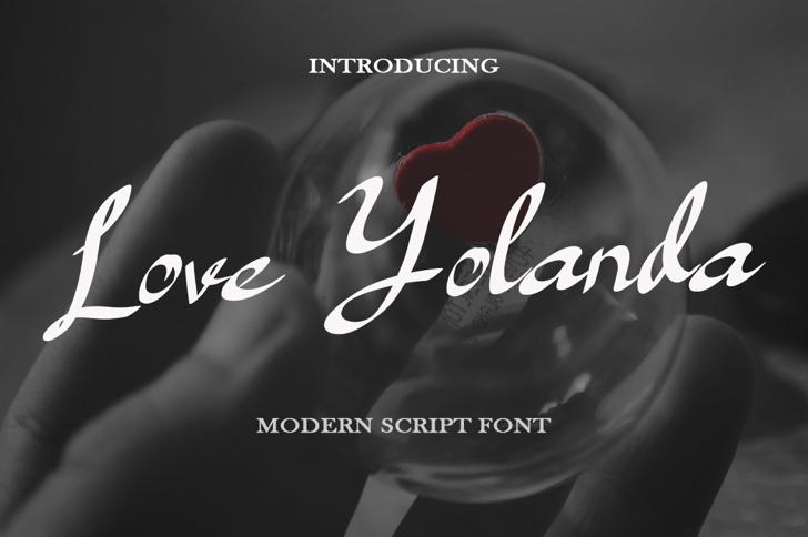 Love Yolanda Font poster