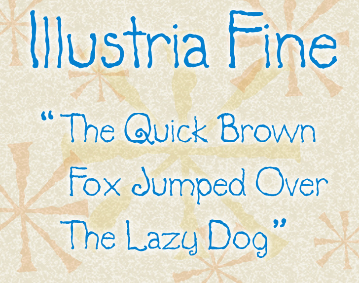 Illustria Font handwriting text