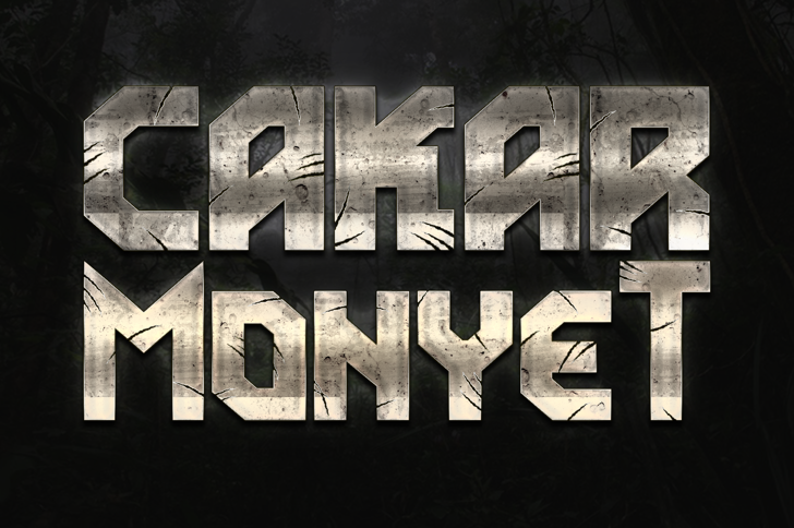 Cakar Monyet Font By Ghielz FontSpace