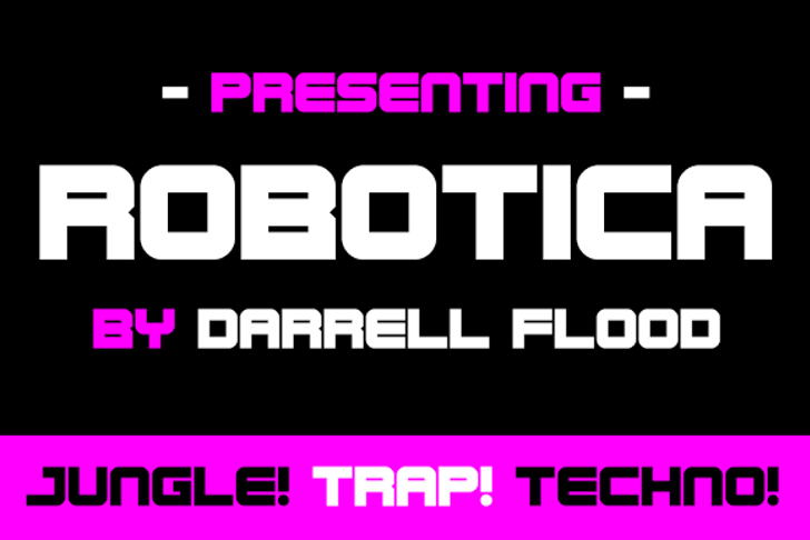 Robotica Font screenshot design