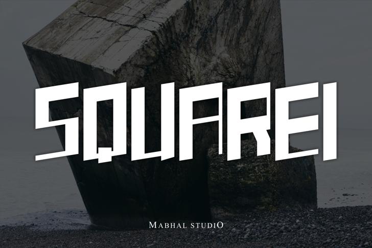 SQUAREI (demo) Font poster