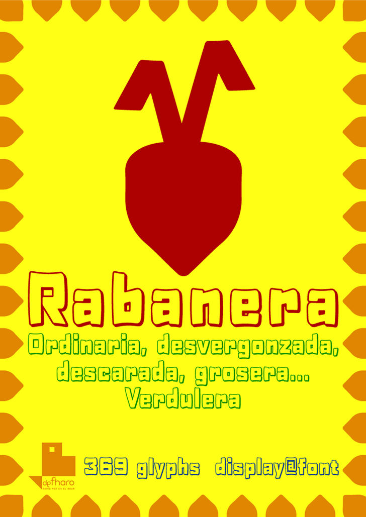 Rabanera Font cartoon poster