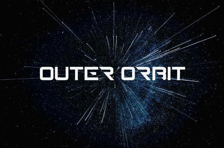 outerorbit Font poster