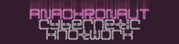 Anachronaut Font design screenshot