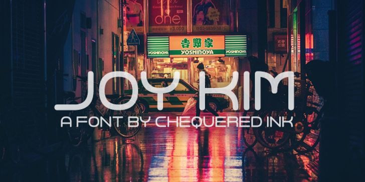 Joy Kim Font poster sign