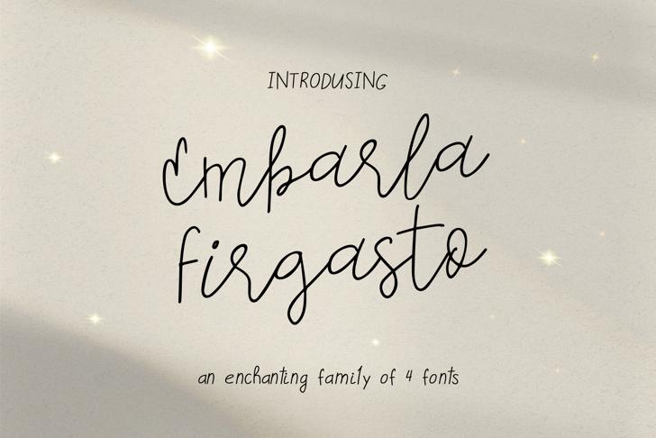 Embarla Firgasto Handwritten Font poster