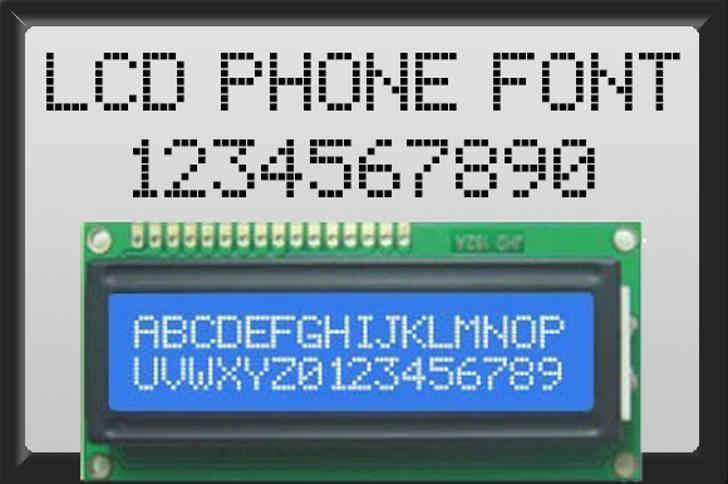 lcd phone Font screenshot sign