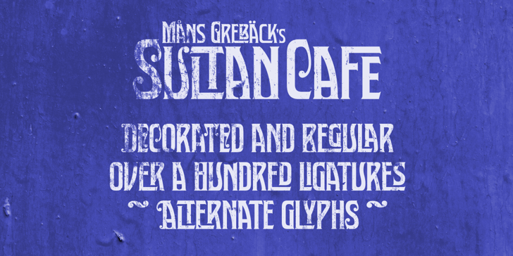 Sultan Cafe PERSONAL USE Font outdoor handwriting