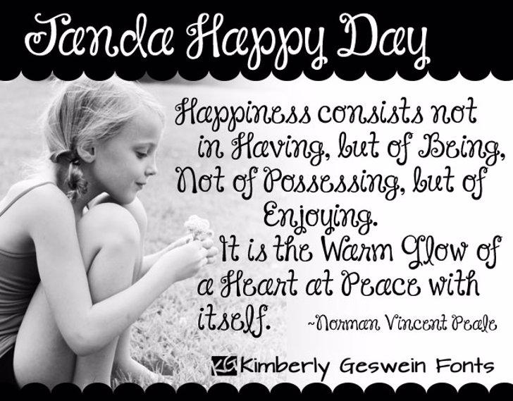 Janda Happy Day Font baby toddler