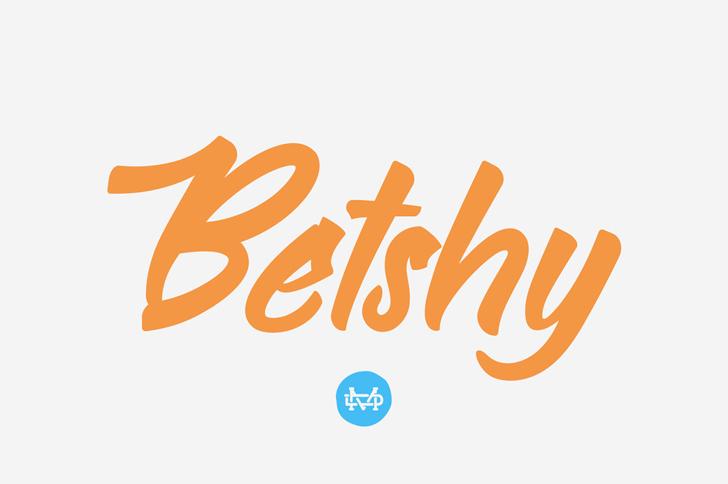 Bethsy Font design