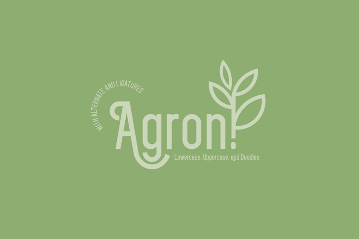Agron demo Font poster