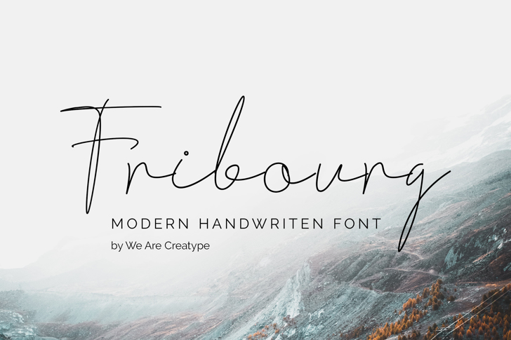 Fribourg Font poster