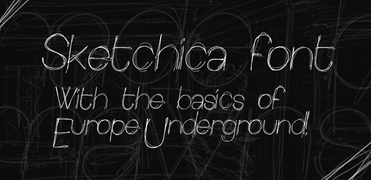 Sketchica Font handwriting drawing