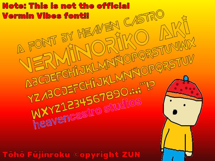 Verminoriko Aki Font cartoon design
