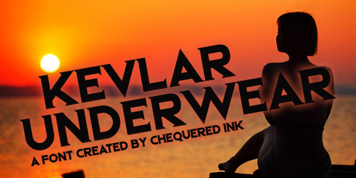 Kevlar Underwear Font sky poster