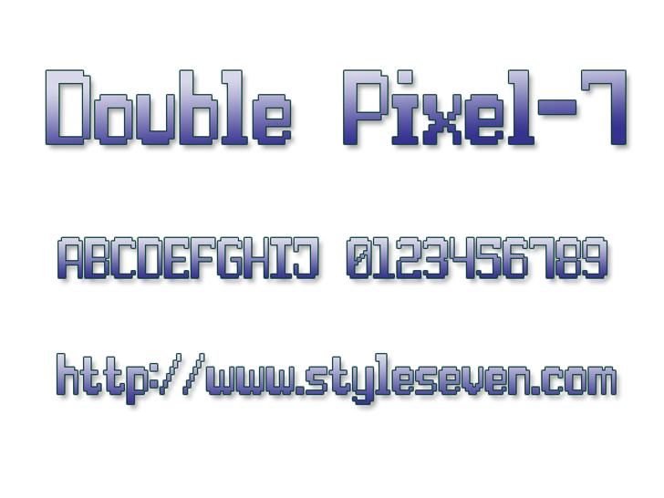 Double Pixel-7 Font screenshot design