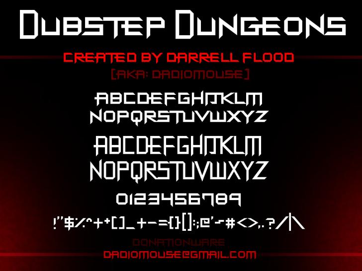 Dubstep Dungeons Font screenshot design