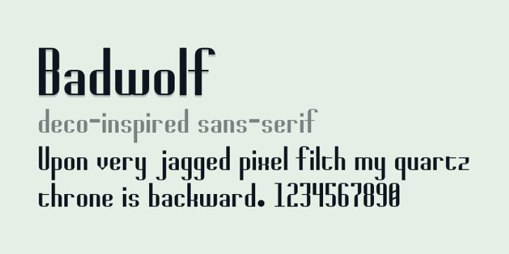 Badwolf Font screenshot design