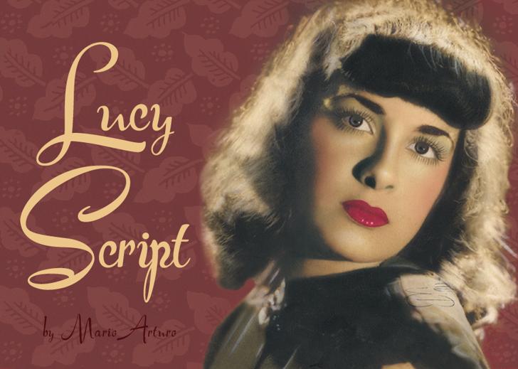 Lucy Script Font handwriting human face