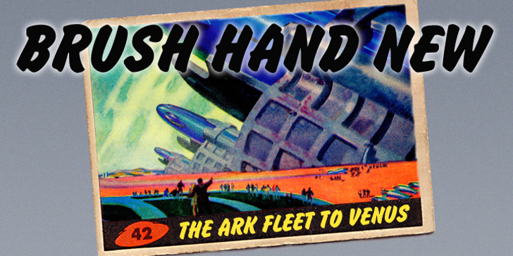Brush Hand New Font poster aircraft