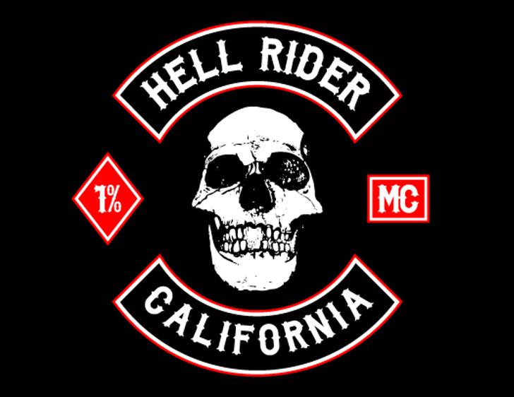 Biker from Hell Font cartoon skull