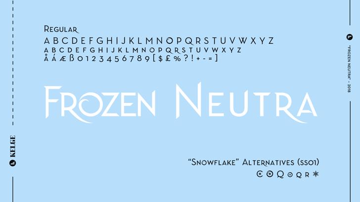Frozen Neutra Font design text