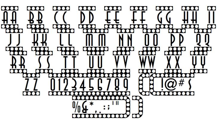 Showtime Font Letters Charmap