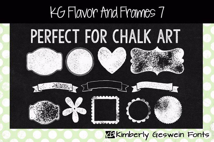 KG Flavor And Frames Seven Font text book