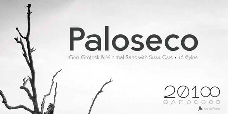 Paloseco Light Font tree design