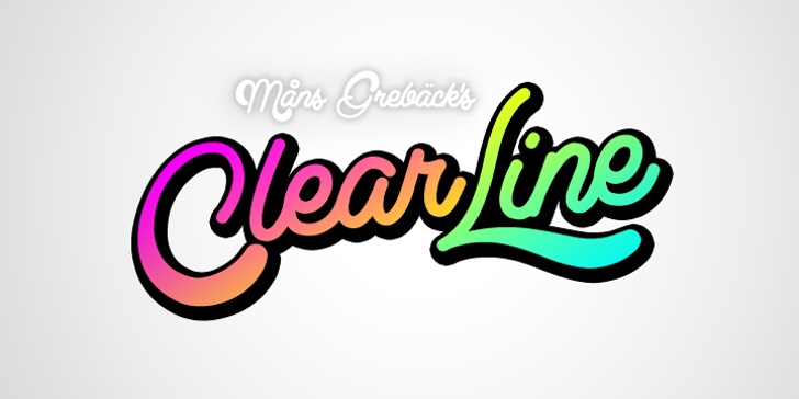 Clear Line PERSONAL USE ONLY Font cartoon design