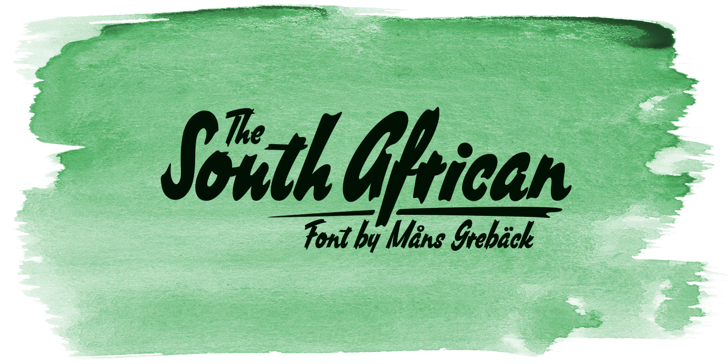 South African Personal Use Font handwriting text