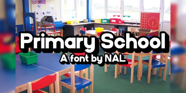 PrimarySchool Font screenshot indoor