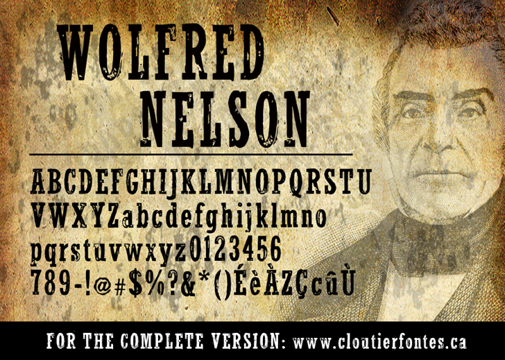 WolfredNelson Font text book